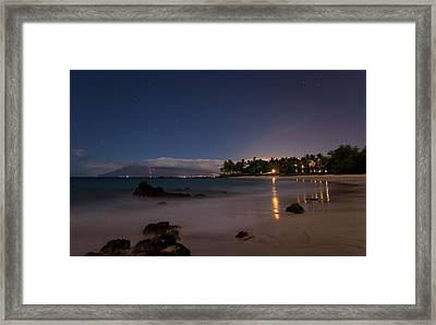 Maui By Night Framed Print by James Roemmling