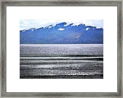 Maui By The Sea Framed Print by Joan  Minchak