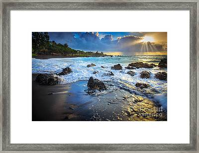 Maui Dawn Framed Print by Inge Johnsson