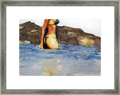 Framed Print featuring the painting Niue by Ed  Heaton