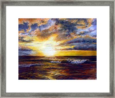 Maui Gold Framed Print