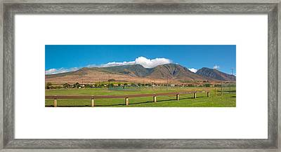 Framed Print featuring the photograph Maui Hawaii Mountains Near Kaanapali   by Lars Lentz