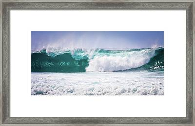 Maui Huge Wave Framed Print by Denis Dore
