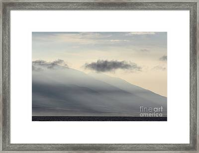 Maui In Gray Framed Print