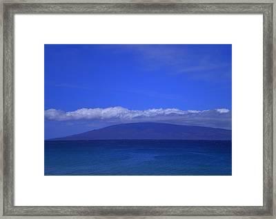Maui Island View Framed Print