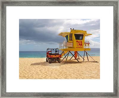 Maui Lifeguard Tower Framed Print