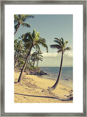 Framed Print featuring the photograph Maui Lu Beach Hawaii by Sharon Mau