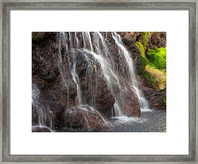 Maui Man In Shower Framed Print