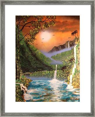 Framed Print featuring the painting Maui by Michael Rucker