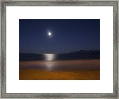 Maui Moonset Framed Print