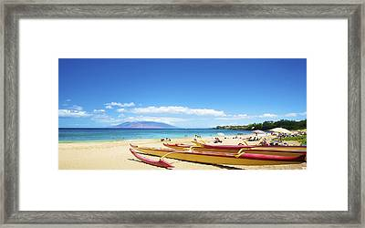 Maui Outriggers Framed Print by Kicka Witte