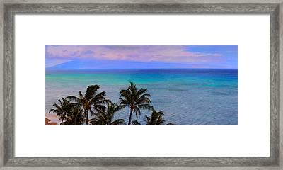 Maui Panorama Framed Print