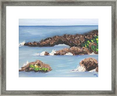 Maui Rock Bridge Framed Print