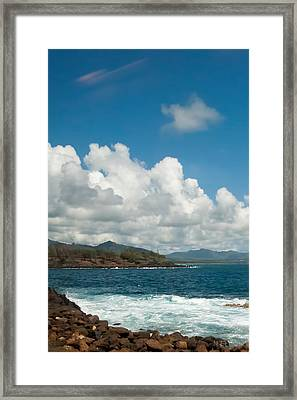 Maui Sea And Surf Framed Print