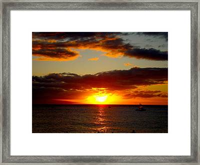 Framed Print featuring the photograph Maui Seascape by Tamara Bettencourt