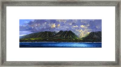 Maui Splendor Framed Print by Tom Wooldridge
