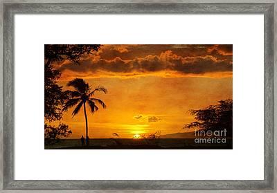 Maui Sunset Dream Framed Print
