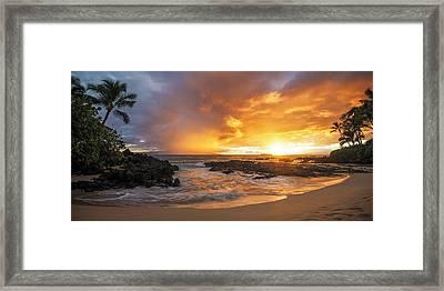 Maui Sunset Framed Print by Hawaii  Fine Art Photography
