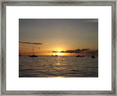Maui Sunset Framed Print by James McAdams