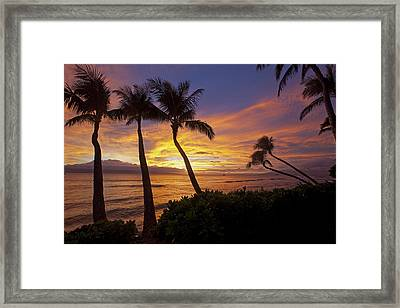 Maui Sunset Framed Print by James Roemmling
