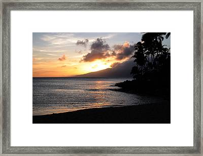 Maui Sunset - Napilli Beach Framed Print