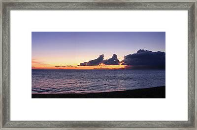 Framed Print featuring the photograph Maui Sunset Panorama by Harold Rau