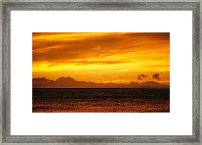 Maui Sunset Sun 125 Framed Print