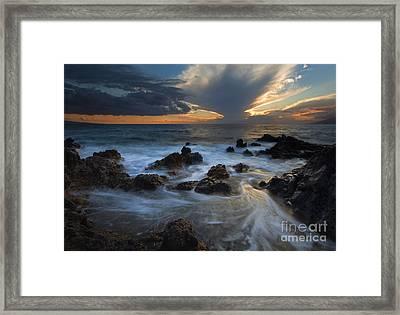 Maui Sunset Tides Framed Print