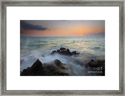 Maui Tidal Swirl Framed Print by Mike  Dawson