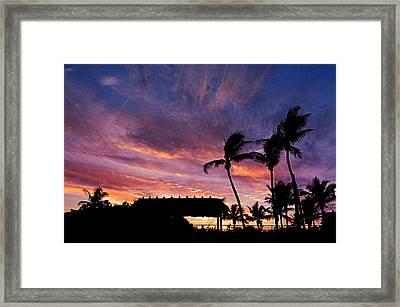 Maui Tiki Sky Framed Print