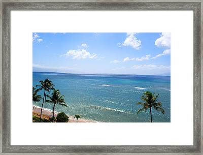 Maui View Framed Print by Camille Lopez