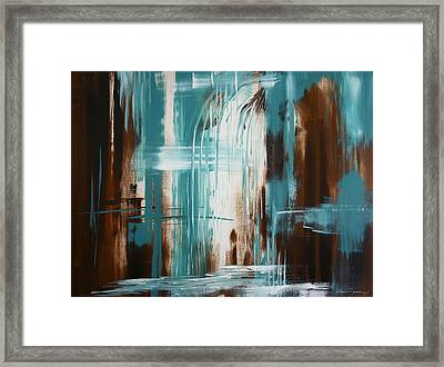 Waterfall In Paradise Framed Print by Dani Abbott