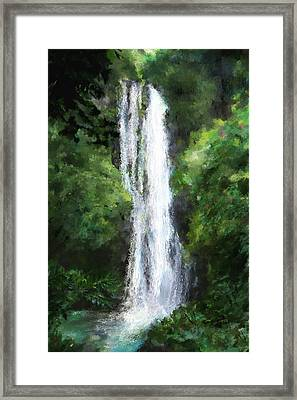 Maui Waterfall Framed Print