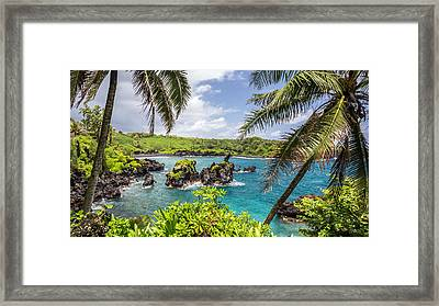 Maui's Black Sand Beach Framed Print by Pierre Leclerc Photography