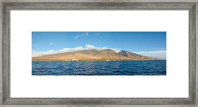 Framed Print featuring the photograph Maui's Southern Mountains   by Lars Lentz
