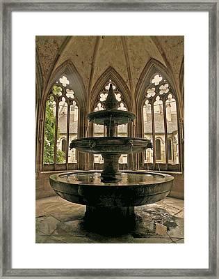 Maulbronn Fountain Framed Print by Jean Hall