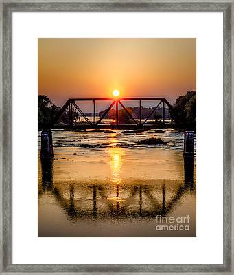 Maumee River At Grand Rapids Ohio Framed Print