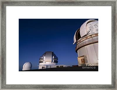 Mauna Kea At Night Framed Print