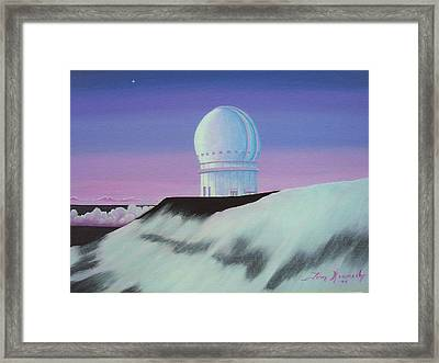 Mauna Kea In The Morning Framed Print