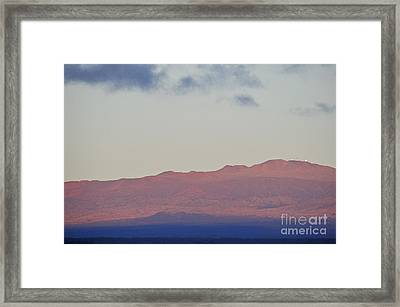 Mauna Kea Volcano At Sunrise From Hilo Framed Print by Sami Sarkis