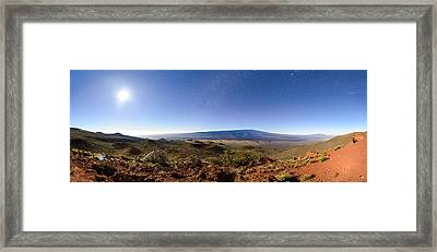 Mauna Loa Moonlight Panorama Framed Print