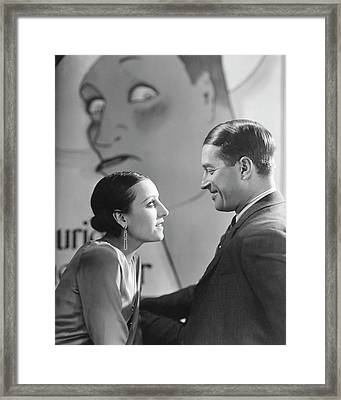 Maurice Chevalier And Yvonne Vallee Framed Print by George Hoyningen-Huene