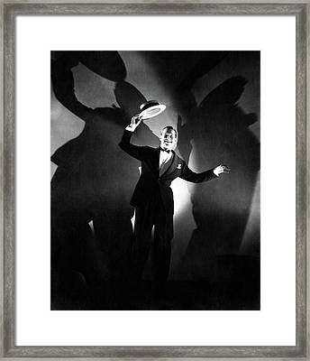 Maurice Chevalier Holding A Boater Hat Framed Print