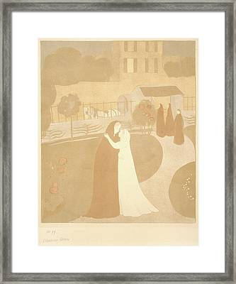 Maurice Denis French, 1870 - 1943. The Visitation La Framed Print