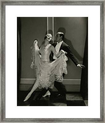Maurice Mouvet And Leonora Hughes Dancing Framed Print