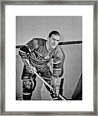 Maurice Richard Framed Print by Florian Rodarte