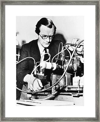 Maurice Wilkins Framed Print by National Library Of Medicine