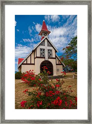 Mauritian Catholic Church.  Notre Dame Auxiliatrice Framed Print