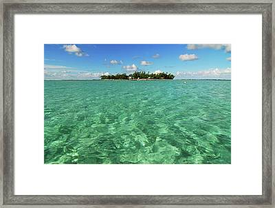 Mauritius, Blue Bay, Turquoise Rippled Framed Print