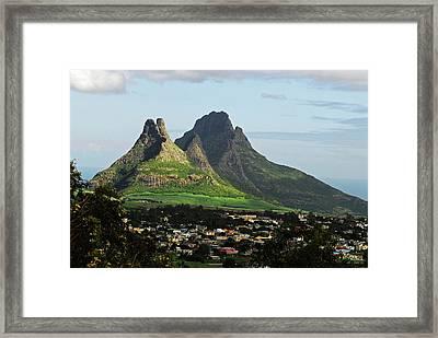 Mauritius, Floreal, Houses Framed Print